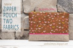 Make It Blossom by Sandra Clemons: Tutorial Zipper Pouch Two Fabrics