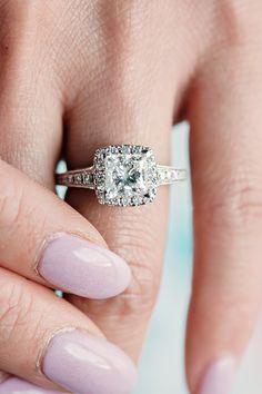 Halo Vintage Diamond Engagement Ring from @shanecompany