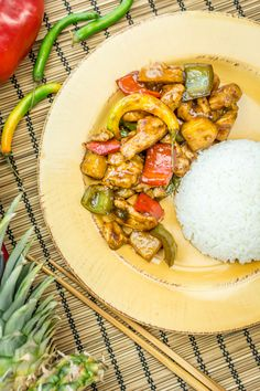 Sweet & Spicy Chicken -- A little bit of sweet and a touch of hot with this delicious savory Asian dish.