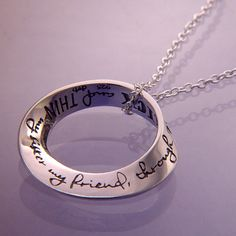 Inscription: My sister my friend through thick and thin. It's an expression at least as old as Geoffrey Chaucer's Canterbury Tales [c. 1380]. #sterlingsilver #jewelry #handmade #Christmas #gifts