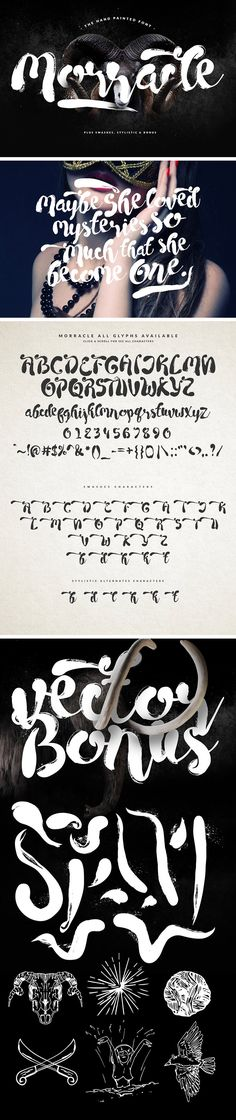 Today I continue to give you a Creative called Morracle! Tons of alternate glyphs and bonus vectors are included. You get source files in TTF and OTF formats, web fonts support, bonus shapes in AI and EPS and PNG. Handwritten Fonts, Typography Fonts, Cursive Fonts, Creative Fonts, Cool Fonts, Free Fonts Download, Font Free, Font Combinations, Joomla Templates