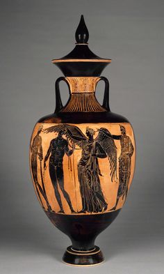 thegetty:    Art Olympics: Doubles Ceramics  MedalistsNikodemos, potterPainter of the Wedding Procession, painter  TitlePrize Vessel from the Athenian Games