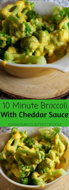 10 Minute Broccoli with Cheddar Sauce
