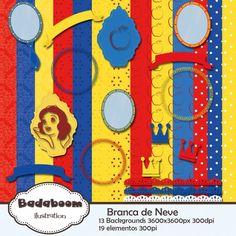 Kit Digital Scrapbook Branca de Neve