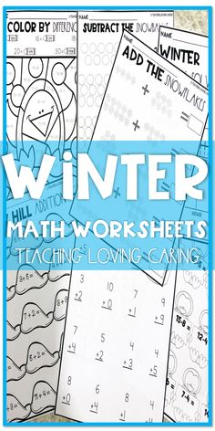 "Winter math differentiated addition and subtraction activities packet with a cute ""Winter"" theme! Your students will practice 1-digit and 2-digit addition and subtraction, adding and subtracting objects within 10, and solving word problems! This set is great for differentiated math centers, morning tasks / December, January or February morning work, or early finishers!"