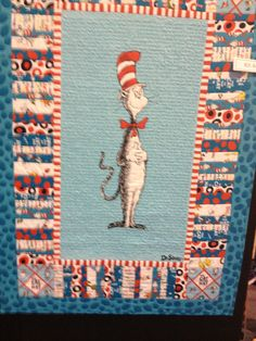 Cat in the Hat Toddler Quilt, Pillow, and Pillow Case With or ... : cat in the hat quilt kit - Adamdwight.com