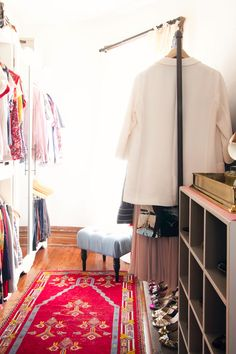 Closet and dressing room makeover from Nicole of Making It Lovely blog