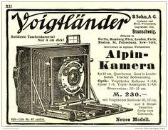 Original-Werbung/Inserat/ Anzeige 1908 - VOIGTLÄNDER ALPIN-KAMERA - ca. 140 x 110 mm