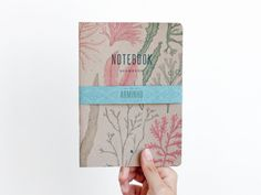 SEAWEEDS  notebooks  recycled brown cover   SEA5015B by ARMINHO, €7.50
