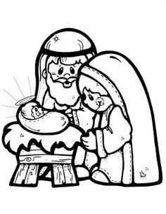 nativity scene coloring page coloring for kids and christmas nativity - Christmas Nativity Coloring Pages