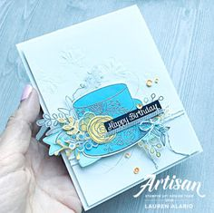 Cake Soirée Birthday Card With Dry Embossing