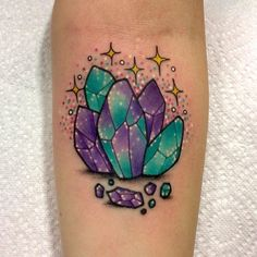 ✨ From musink on @cottonkandiprincess thanks so much Kelly! You are the best, can't wait to see you again  #crystals #tattoo