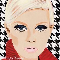 """""""Twiggy by Kristin Freeman  Acrylic on Canvas  16x24  www.kristinfreemanart.com  #atx #Austin #austinart #kristinfreeman #kristinfreemanart #twiggy #spratx"""""""