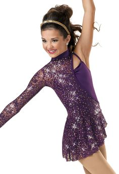 stunning dance costume | Asymmetrical Biketard with Skirt; Weissman Costume