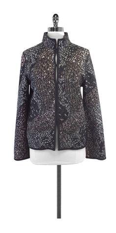 Missoni Grey Wool Blend Knit Jacket