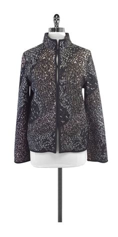 Missoni Grey Wool Blend Knit Jacket