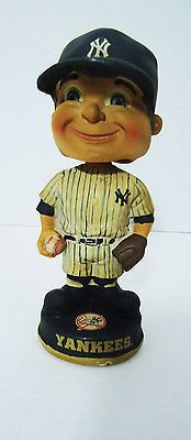 """New york #yankees vintage #retro bobblehead #collectible mlb baseball fan 7"""" ny,  View more on the LINK: http://www.zeppy.io/product/gb/2/201227874618/"""