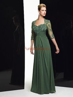 2014 New Sheath Applique Floor Length Sleeved Chiffon Mother of the Bride/ Groom Dress Plus Size Formal Prom Evening Gowns