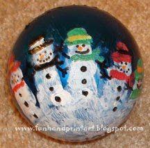 Handprint Snowman Ornaments