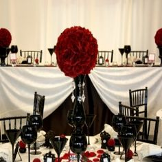 Made a centerpiece like this out of tissue paper for my Hollywood Glamour Dinner Party