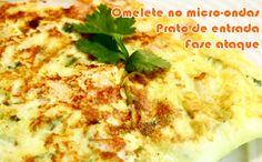 Omelete no micro-ondas - Receitas dukan #receitas #receitasdukan #faseataque #dukan #dieta