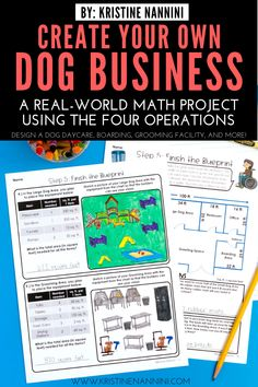 Create Your Own Dog Business Math Project - Upper elementary & grade 5th Grade Classroom, Middle School Classroom, Classroom Ideas, Fun Math, Math Activities, Kids Daycare, Daycare Forms, Consumer Math, Real Life Math