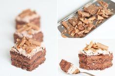 Chokoladefragilite med vandmousse og mandelbunde