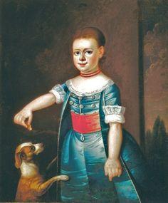 Jeremiah Theus (American colonial era artist, 1716-1774) Portrait of a Child