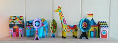 Party animals paper craft kit by EllenGiggenbach on Etsy, $15.00