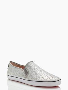 serena sneakers, silver