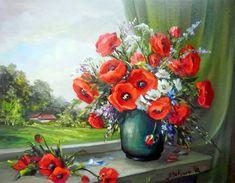 cuadros de flores pintados al oleo (1)