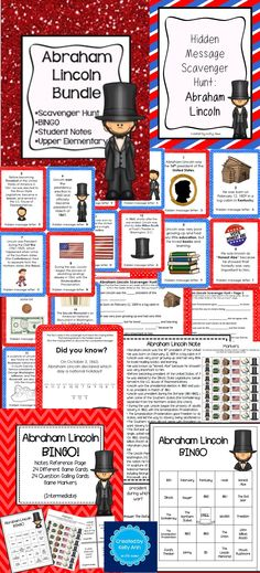 Abraham Lincoln Activities Bundle Great Content