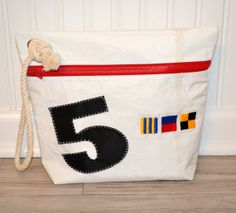 Personalized Maritime Flag Sail Anew Ditty Bag by toteswithatwist, $38.00