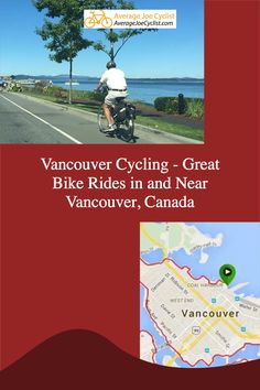 This post showcases great bike rides in and around Vancouver, Canada. Vancouver cycling offers a range of options, from adventurous and athletic to easy and family friendly. Includes great bike rides in Vancouver, Burnaby, Port Coquitlam, Pitt Meadows, Richmond, and Vancouver Island. #AverageJoeCyclist #cycling #Vancouver #VancouverCycling Women's Cycling, Cycling Workout, Downtown Vancouver, Vancouver Island, Child Bike Seat, Indoor Bike Trainer, Best Electric Bikes, Average Joe, Canada