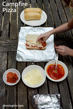 Everyone is going to love this delicious campfire pizza! You can easily make it on the grill, or with an actual campfire. Delicious, easy summer dinner idea.