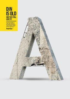 Typo Poster: Respect type: DIN by Miguel De La Garza