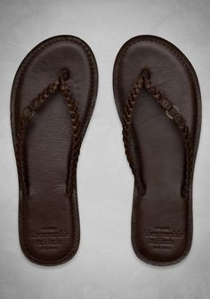 Genuine Leather Flip Flops- I have to have these! Rubber, suede, or fabric soled flips are the worst. Cute Sandals, Cute Shoes, Flip Flop Sandals, Me Too Shoes, Shoes Sandals, Pretty Shoes, Wedge Boots, Heeled Boots, Sock Shoes