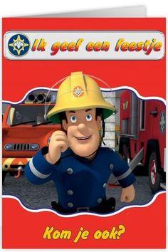 Uitnodigingen Kinderfeest Brandweerman Sam