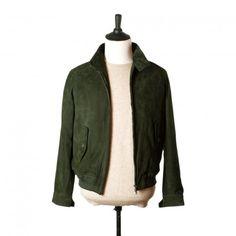 Racing green lamb suede Harrington jacket
