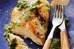 Sauteed Chicken Breasts with Fresh Herbs and Ginger: Low Carb Recipe : Food Network Kitchen : Food Network Herb Recipes, Chicken Recipes, Cooking Recipes, Healthy Chicken, Chicken Meals, Recipe Chicken, Oven Recipes, Turkey Recipes, Recipies