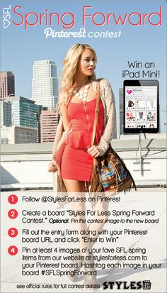 Pin for your chance to win an iPad mini in the SFL Spring Forward Pinterest Contest! #SFLSpringForward