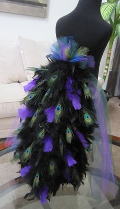 Peacock Bustle Tail For Costume by threadedcreations on Etsy