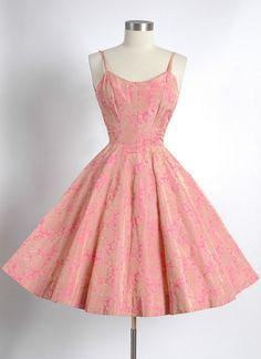 1950s Pink Sundress Dress