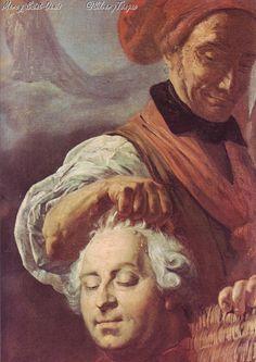 C.H. Sanson presentando al pueblo la cabeza de Luis XVI.