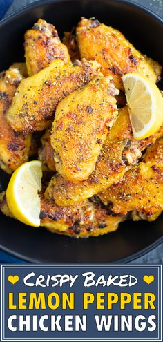 Crispy Lemon Pepper Wings are a flavorful healthy, low carb, keto, gluten-fre. Baked Lemon Pepper Wings, Paleo, Sans Gluten, Gluten Free, Oven Chicken Recipes, Pasta Recipes, Dinner Recipes, Chicken Stuffed Peppers, Fodmap