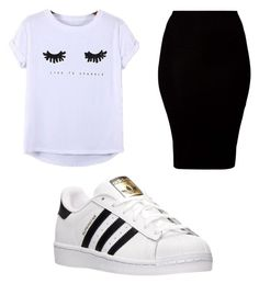 """""""Untitled #114"""" by journeycarothers on Polyvore featuring Chicnova Fashion, American Apparel and adidas"""