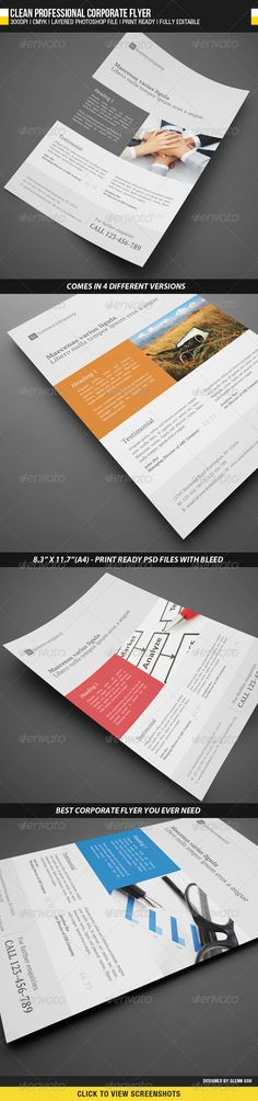 Business Corporate Flyer  Business Brochures And Corporate Design