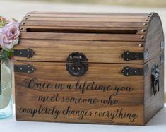 wood wedding card box with lid wedding money box wedding card