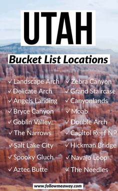 From slot canyons to martian landscapes, this is the ultimate Utah road trip itinerary! It features all 5 Utah National Parks plus lesser known spots! Utah Vacation, Vacation Trips, Vacations, Vacation Ideas, Vacation Pictures, Vacation Spots, Au Pair, Lac Retba, West Coast Usa