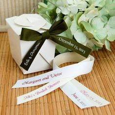 Personalized Eco-Friendly Pre-Cut Ribbon by Beau-coup